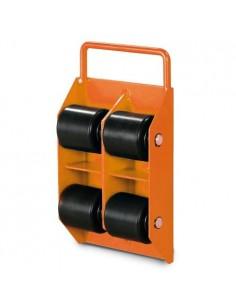 UNI6193030 - Pattini A Rulli Modello  TR 3 - Portata 3 T - Con 4 Rulli - 1 2