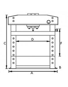 UNI6300020 - Pressa Idraulica Modello WPP 20 E - Forza Di Compressione 20 T - 1 2