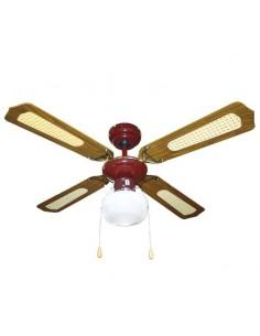 Ventilatore da soffitto 105 cm - 4 pale - 1 luce - 1