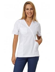 Casacca Donna M/C Bianco Nancy Sigg Easyfit Dr.Blue - 1