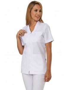 Casacca Donna M/C  Bianco Trudy Sigg Easyfit Dr.Blue - 1