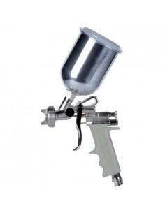 AST0013718 - Aerografo Convenzionale Manuale Superiore A Bassa Pressione Modello E70 - Ugello Ø 1,8 Mm - Serbatoio In Alluminio