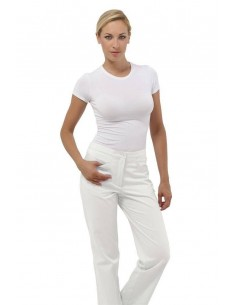 Pantaloni Donna Bianco Sky...
