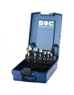 BOC17001330006 - Assortimento Svasatori 90° Forma C - HSS Din 335 - 6 Pezzi - 1