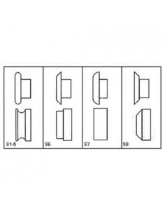 MET3814002 - Bordatrice Manuale Modello SBM 140-12 - Lunghezza Rullo 140 Mm - 1 2