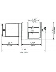 Argano elettrico 12 V in corrente continua Fervi 0630/0900 2