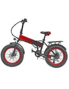 Bicicletta elettrica rossa con pedalata assistita Vinco