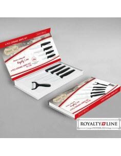 Set di coltelli di ceramica da 4 pezzi + Pelapatate Royalty Line RL-C4 Nero 2