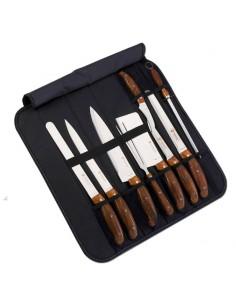 Set di coltelli professionali con custodia ripiegabile da 8 pezzi Royality Line RL-K9C