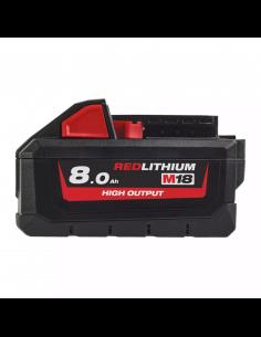 Batteria RedLithium HIGH OUTPUT™ 8.0Ah Milwaukee M18 HB8