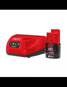 Energy Pack M12™ Milwaukee M12 NRG-201 con 1 batteria M12 B2 e caricatore C12 C - 1