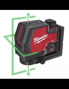 Livella laser ricaricabile con luce verde Milwaukee L4 CLL-301C - 1 2