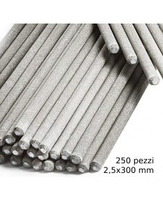 Elettrodi per saldatura HU-Firma HU-41 rutilici 250 pezzi 2,5x300 mm - 1