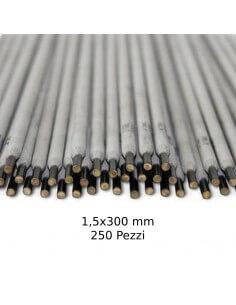 Elettrodi per saldatura HU-Firma HU-41 rutilici 250 pezzi 1,5x300 mm - 1