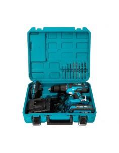 Kit Trapano a percussione Avvitatore 20V con 2 batterie 2 Ah, caricabatteria e 32 accessori - 1 2