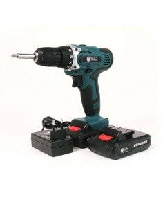 Kit Trapano / avvitatore a batteria 18V con 1 batterie 2Ah, caricatore e Custodia F-Tools MT12 - 1