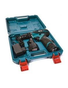 Kit Trapano / avvitatore a batteria 18V con 1 batterie 2Ah, caricatore e Custodia F-Tools MT12 - 1 2
