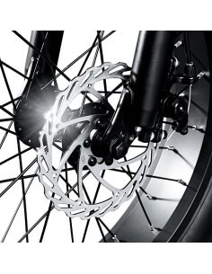 "Bicicletta elettrica pieghevole a pedalata assistita ruote 20x4.0"" motore 250W Brushless RIDER THE ONE - 1 2"