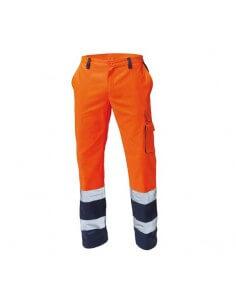 Pantalone bicolore  AV arancione/blu Siggi STEP ONE - 1