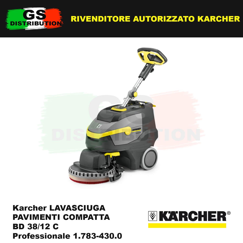 Karcher lavasciuga pavimenti compatta bd 38 12 c for Lavasciuga compatta