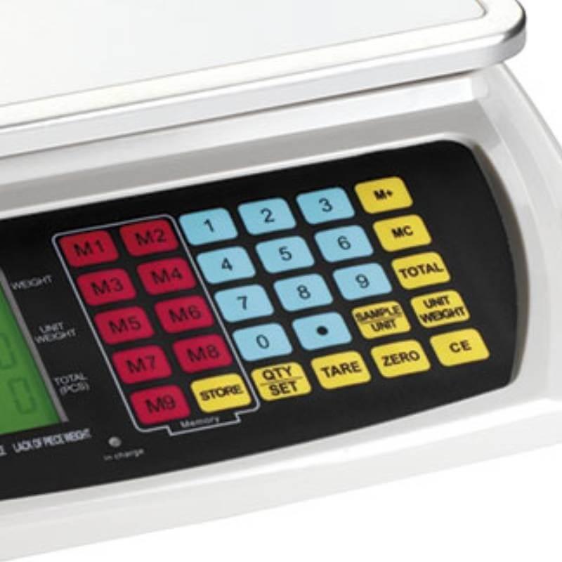 Bilancia elettronica digitale contapezzi ricaricabile Fervi B004/7